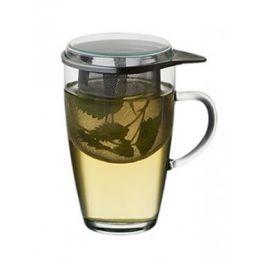 Süzgeçli Cam Çay Demleme Kupası
