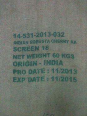 Indian Robusta AA - Toptan Çiğ Kahve